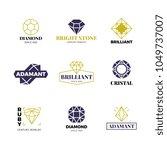 diamond logost. abstract luxury ... | Shutterstock .eps vector #1049737007