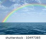 beautiful rainbow | Shutterstock . vector #10497385
