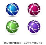 networks globe connections... | Shutterstock .eps vector #1049745743