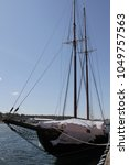 Small photo of The Bluenose covered up in Lunenburg, Nova Scotia.