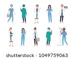 set of female medical workers.... | Shutterstock .eps vector #1049759063