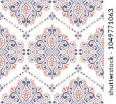 beautiful blue and orange... | Shutterstock .eps vector #1049771063
