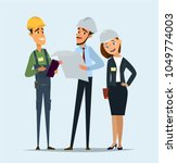 technician and builders and... | Shutterstock .eps vector #1049774003