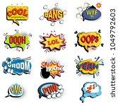 comic speech bubbles.... | Shutterstock .eps vector #1049792603