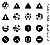 solid vector icon set   no... | Shutterstock .eps vector #1049800457