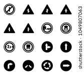 solid vector icon set   no... | Shutterstock .eps vector #1049807063