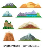 different mountain set isolated ... | Shutterstock .eps vector #1049828813