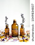 dried flowers essential oil...   Shutterstock . vector #1049834837