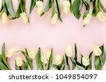 flower border frame made of... | Shutterstock . vector #1049854097
