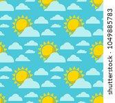 clouds sun weather vector... | Shutterstock .eps vector #1049885783