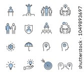 people icons line work group... | Shutterstock .eps vector #1049893697