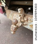 Rusted Trailer Hitch On A Truck
