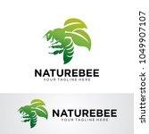 nature bee logo template design ... | Shutterstock .eps vector #1049907107