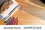 object background in morning... | Shutterstock . vector #1049922263