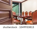 vintage decorated meeting room... | Shutterstock . vector #1049933813