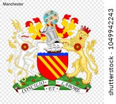 emblem of manchester. city of... | Shutterstock .eps vector #1049942243