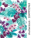 tropical seamless pattern with... | Shutterstock .eps vector #1049951963