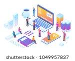 technology startup isometric...   Shutterstock .eps vector #1049957837