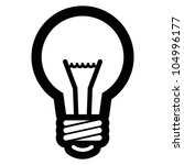 light bulb icon | Shutterstock .eps vector #104996177