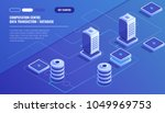 computation of big data center  ... | Shutterstock .eps vector #1049969753