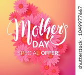 mother's day sale background.... | Shutterstock .eps vector #1049977667