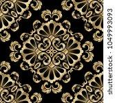 vintage damask seamless pattern.... | Shutterstock .eps vector #1049993093