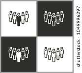people   black and white vector ...   Shutterstock .eps vector #1049996297