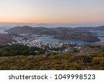 sunset at skala of patmos from...   Shutterstock . vector #1049998523