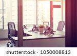 empty office room concept. | Shutterstock . vector #1050008813