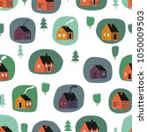 childish seamless pattern with... | Shutterstock .eps vector #1050009503