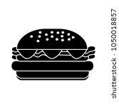 burger sandwich illustration ... | Shutterstock .eps vector #1050018857