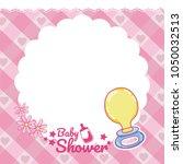 baby shower card   Shutterstock .eps vector #1050032513