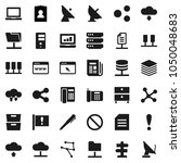 flat vector icon set   pen... | Shutterstock .eps vector #1050048683