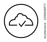 cloud submit icon  approved | Shutterstock .eps vector #1050048977