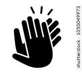 hands clapping  applauding or...   Shutterstock .eps vector #1050049973