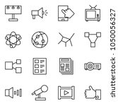 flat vector icon set  ... | Shutterstock .eps vector #1050056327