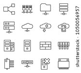 flat vector icon set   share... | Shutterstock .eps vector #1050056957