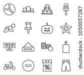 flat vector icon set   diagram... | Shutterstock .eps vector #1050057287