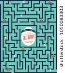 easter maze egg hunt invitation ...   Shutterstock .eps vector #1050083303