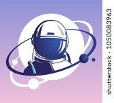 astronaut.  the first cosmonaut.... | Shutterstock .eps vector #1050083963