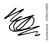 chaotic hand drawn scribble... | Shutterstock .eps vector #1050114803