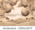 Retro Apple Orchard  Engraving...