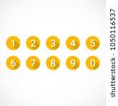 set of 0 9 numbers. set of... | Shutterstock .eps vector #1050116537