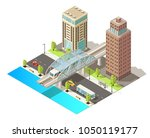 isometric urban traffic... | Shutterstock .eps vector #1050119177