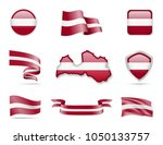 latvia flags collection. flags... | Shutterstock .eps vector #1050133757