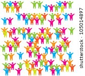 fans  viewers  crowd or... | Shutterstock .eps vector #105014897