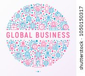 global business concept in... | Shutterstock .eps vector #1050150317