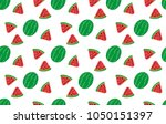 tropical fruits seamless... | Shutterstock .eps vector #1050151397