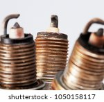 old used and spoiled candles... | Shutterstock . vector #1050158117