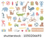silhouettes of toys for... | Shutterstock .eps vector #1050206693